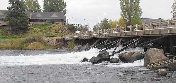Dam spillway in Bend